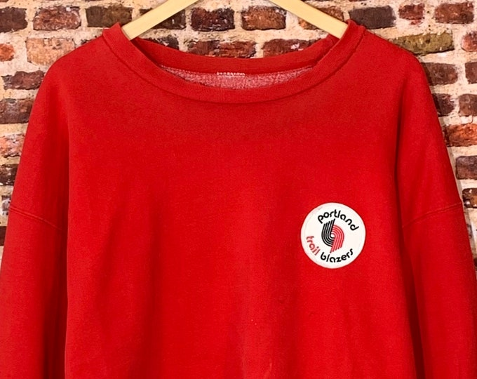 Featured listing image: Vintage Portland Trail Blazers Men's XL Heavyweight Crewneck Sweatshirt