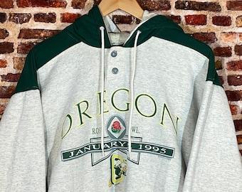 Vintage Oregon Ducks Football 1995 Rose Bowl Men's Medium Hoodie Sweatshirt Rare