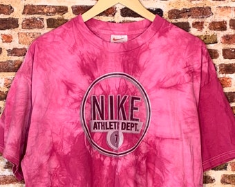 Vintage Nike Men's XL One of a Kind Hand Dyed Tee Shirt