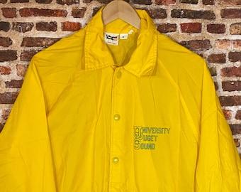 Vintage 1970's University of Puget Sound Men's Medium Windbreaker Coach's Jacket Rare