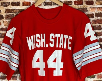 Vintage Late 70's Washington State Cougars Football Men's Medium Jersey Rare made by Medalist