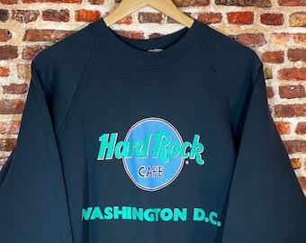 Vintage 80's Hard Rock Cafe Washington DC Men's XL Raglan Style Crewneck Sweatshirt Rare