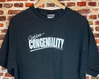 Vintage Miss Congeniality Sandra Bullock Movie Men's XL Original 2001 Promo Tee Shirt