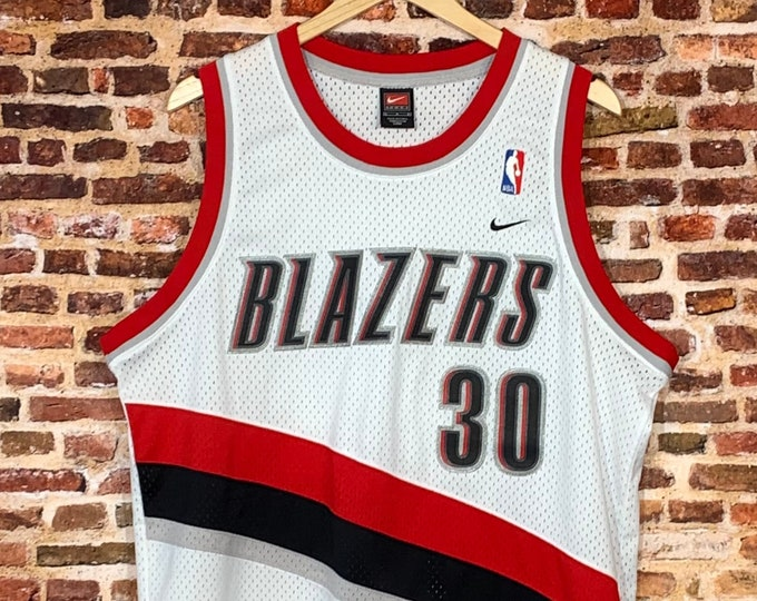 Featured listing image: Vintage RASHEED WALLACE Portland Trail Blazers Men's Large Stitched Swingman Basketball Jersey Rare made by Nike