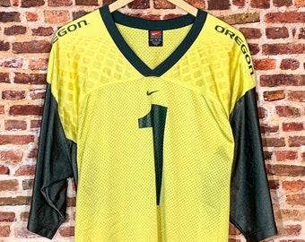Vintage OREGON DUCKS #1 Men's XL Football Jersey Rare made by Nike
