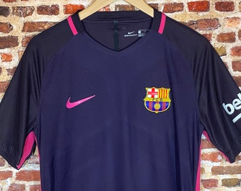 Nike FC Barcelona Authentic Player Issue Men's Large VaporKnit On Field Away Jersey