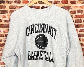 Vintage Champion Reverse Weave Cincinnati Basketball Men's Medium Crewneck Sweatshirt