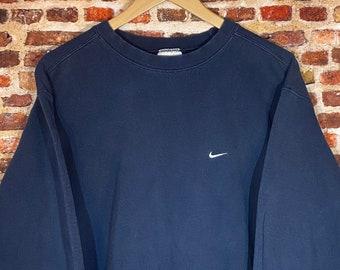 """Vintage 90's Nike Classic """"Mini Swoosh"""" Men's Large Crewneck Sweatshirt Rare"""