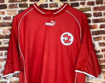 Vintage 90's Switzerland Soccer Men's XL Home Jersey Rare