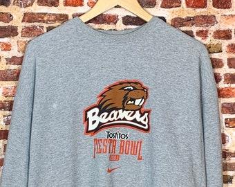 Vintage Nike Oregon State Beavers Football 2001 Fiesta Bowl Men's Large Crewneck Sweatshirt