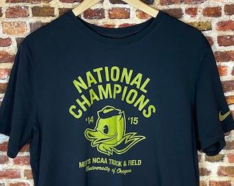 Nike Oregon Ducks Track & Field National Champions Men's Large Graphic Tee Shirt