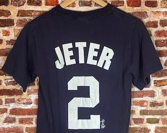 Vintage Derek Jeter New York Yankees Men's Small Jersey Style Tee Shirt