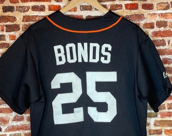 Vintage 90's Barry Bonds San Francisco Giants Men's Large Stitched Jersey Rare made by Majestic