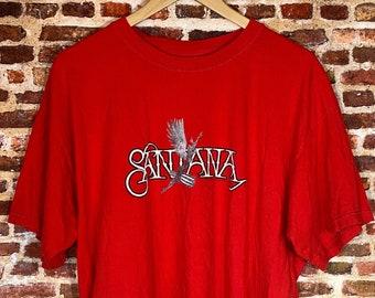 Vintage Santana Men's XL Graphic Tee Shirt