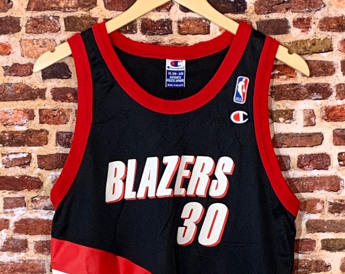 Featured listing image: Vintage Rasheed Wallace Portland Trail Blazers Youth XL (18-20) Basketball Jersey Rare made by Champion