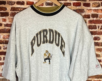 Vintage Purdue Boilermakers Men's 2XL All Embroidered Tee Shirt made by Legend Athletics