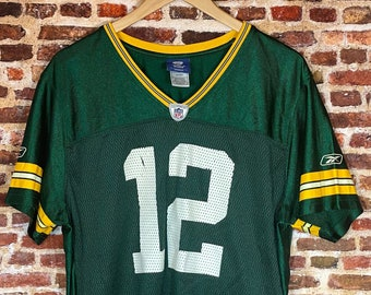 Vintage Aaron Rodgers Green Bay Packers Women's 2XL Jersey Rare made by Reebok