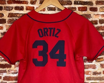 Vintage David Ortiz Boston Red Sox Youth Large (12-14Y) Stitched Jersey Rare