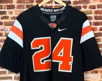 Oregon State Beavers Football Men's Medium #24 Stitched Jersey Rare made by Nike
