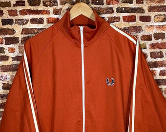 Vintage Fred Perry Men's Large Full Zip Track Jacket Rare