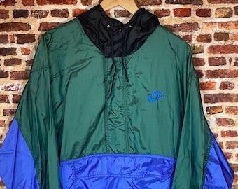 Vintage 90's Nike Men's Medium Oversized Color Block Windbreaker Jacket Rare