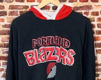 Vintage 90's Portland Trail Blazers Men's XL Hoodie Tee Shirt Rare made by Salem Sportswear
