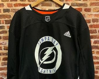 Authentic Tampa Bay Lightning Men's 2XL Sz 58 On Ice Hockey Jersey w/ Fight Strap