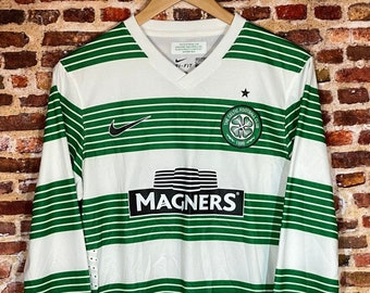 Celtic FC Authentic Player Issue Men's Large 2013 Long Sleeve Home Jersey RARE made by Nike