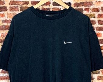"""Vintage 90's Nike Men's XL Classic """"Mini Swoosh"""" Tee Shirt"""
