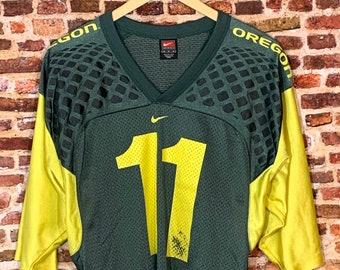 Vintage Oregon Ducks Football Men's Medium Kellen Clemens #11 Jersey Rare made by Nike