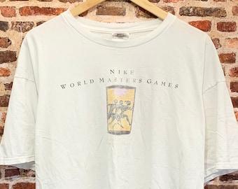 Vintage Nike 1998 World Masters Games Distressed Men's XL Tee Shirt