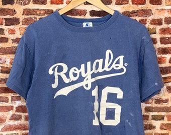 Vintage 80's Bo Jackson Starter Kansas City Royals Men's Med #16 Jersey Style Tee Shirt