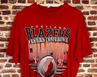 Vintage Portland Trail Blazers 1992 NBA Finals Men's XL Graphic Tee Shirt