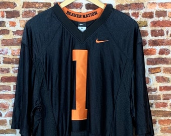 Vintage Jaquizz Rodgers Oregon State Beavers Football 2010 Civil War Game Men's XL #1 Stitched Jersey Rare made by Nike
