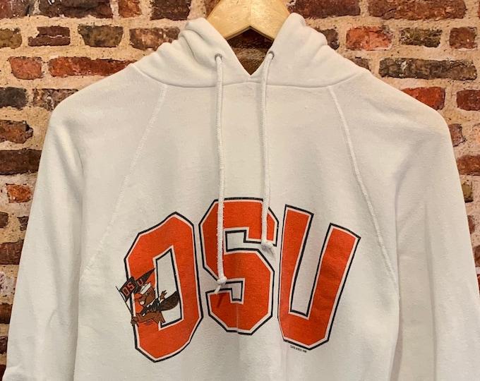 Featured listing image: Vintage Early 80's Oregon State Beavers Men's Medium Hoodie Sweatshirt