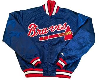 Vintage Starter Atlanta Braves Men's Large Satin Bomber Jacket Rare