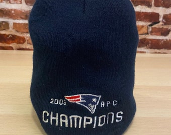 Vintage New England Patriots 2003 AFC Champions Beanie Cap