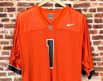Vintage Jaquizz Rodgers Oregon State Beavers Football Men's Small #1 Jersey made by Nike