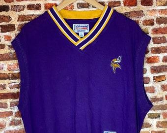 Vintage Early 90's Starter Minnesota Vikings Men's Large Sweater Vest