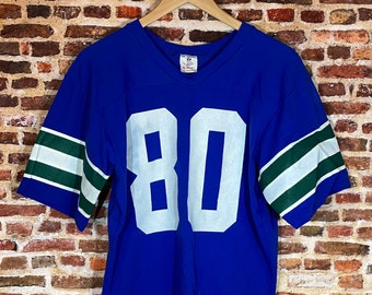 Vintage Early 80's Steve Largent Seattle Seahawks Men's Medium Jersey Rare made by Rawlings