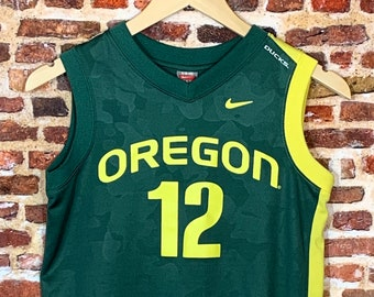 Vintage Oregon Ducks Basketball #12 Youth Small (8-10) Jersey Rare made by Nike