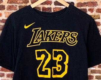 Nike Lebron James Lakers Men's Large #23 Jersey Stlye Tee Shirt