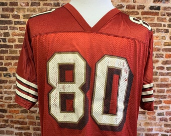 Vintage JERRY RICE San Francisco 49ers Men's Large (Sz 46-48) Jersey RARE made by Logo Athletic