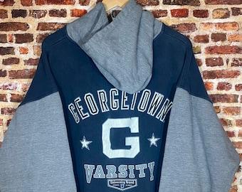 Vintage Early 90's Georgetown Hoyas Men's XL Heavyweight Hoodie Sweatshirt Rare