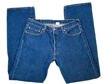 Vintage Levis 501xx 36x38 Button Fly Dark Wash Jeans