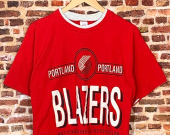 Vintage Early 90's Portland Trail Blazers Men's Large Graphic Tee Shirt