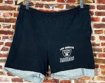 Vintage Early 90's Los Angeles Raiders Men's Medium Shorts