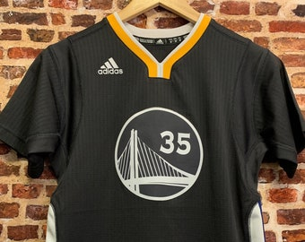 Kevin Durant GOLDEN STATE Warriors Youth Medium (10-12Y) Stitched Swingman Sleeved Jersey made by Adidas RARE