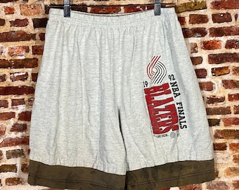 Vintage Portland Trail Blazers 1992 NBA Finals Men's Large Shorts made by Trench