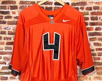 Vintage Sean Mannion Oregon State Beavers Football Men's Medium Stitched #4 Jersey made by Nike